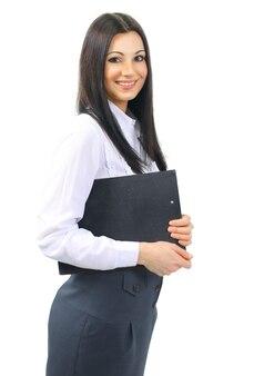 書類を持った女性秘書