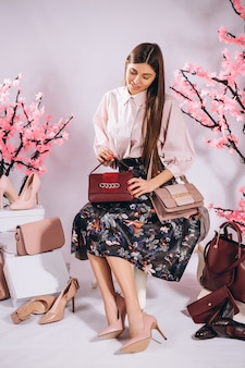 Woman shoes bags fashion
