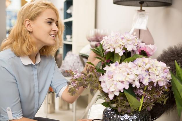 Woman shopping at homeware store