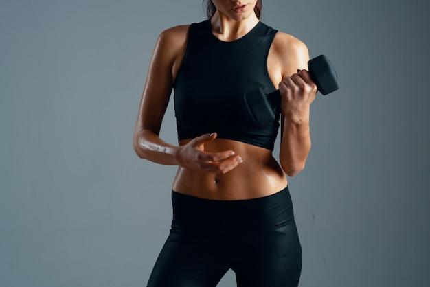 여성 슬림 체형 운동 운동 피트니스 선수