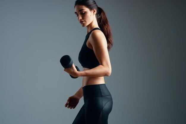 여성 슬림 체형 운동 운동 휘트니스