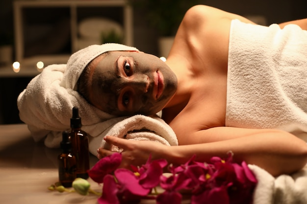 Woman in spa portrait