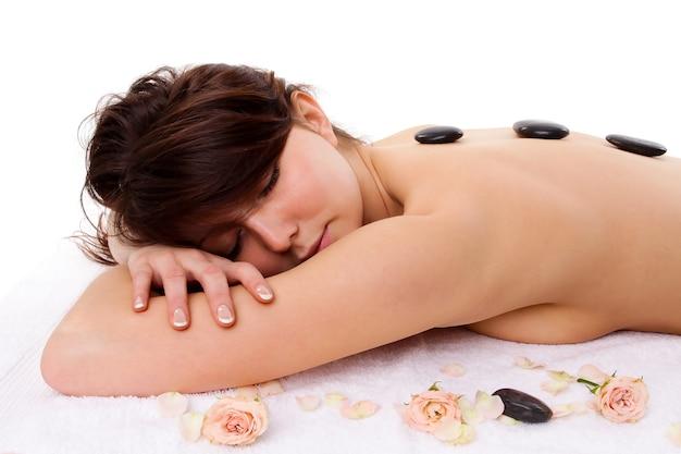 Женщина - концепция спа-лечения, изолированные на белом фоне