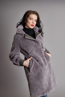 Woman in spring, autumn coat fashion cool weather