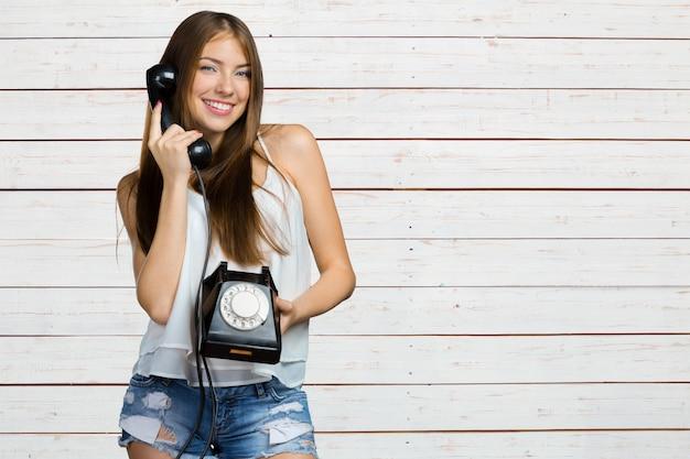 Woman talking the phone
