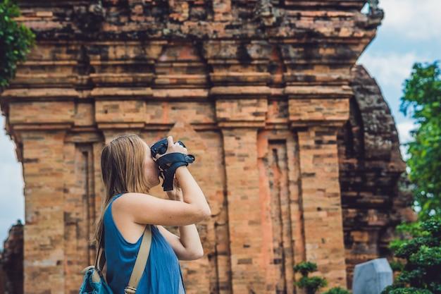 Woman tourist in vietnam