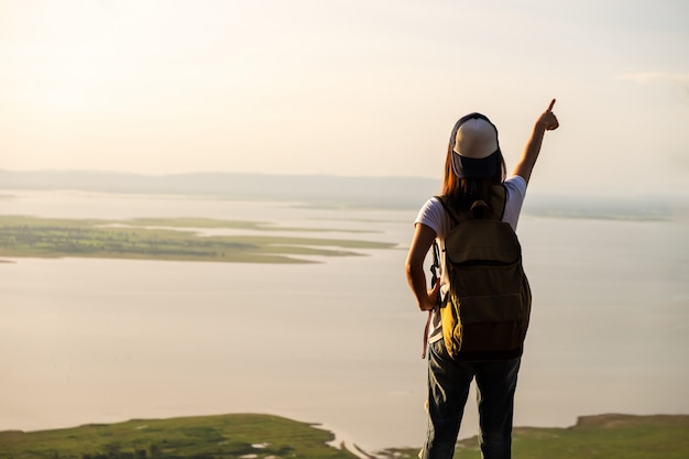 Woman traveler success