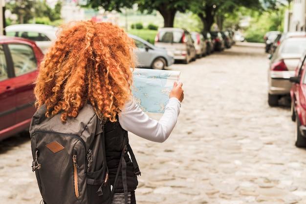 Woman traveling around the world
