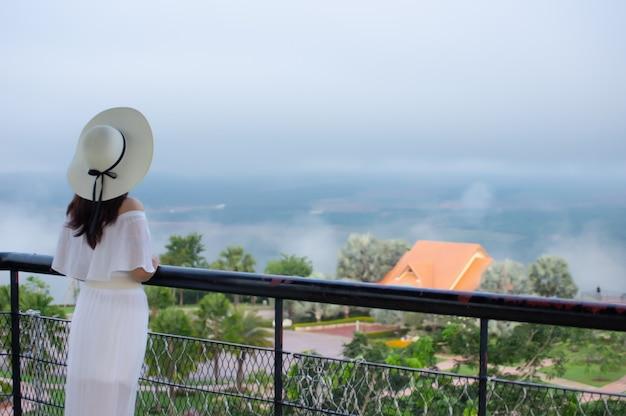 Woman at viewpoint.