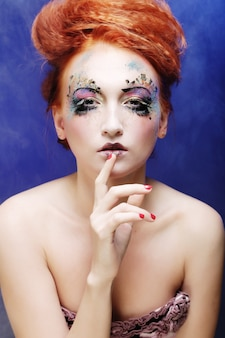Woman with artistic make-up