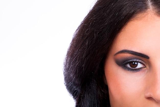 Woman with beautiful make up