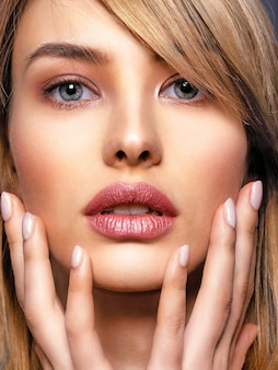 Woman with beauty face and clean skin.