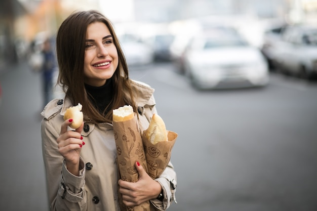Woman with bread