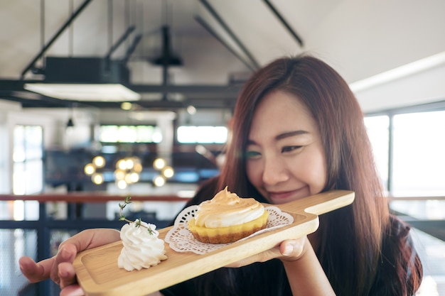 Woman with dessert