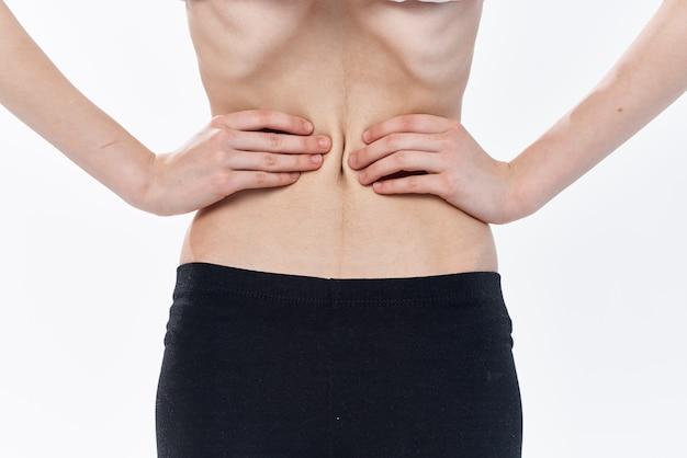平らな腹の食事療法の食欲不振の減量の女性