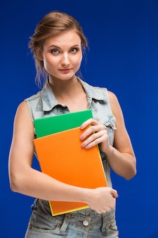 Woman with folders in the hands