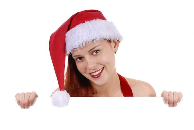 贈り物を持つ女性