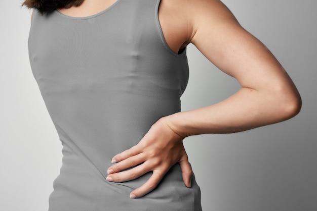 관절 통증 건강 문제 의학을 가진 여자
