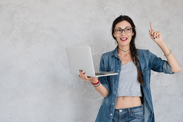 Woman with laptop have a solution