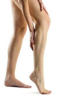 다리 부상으로 여자