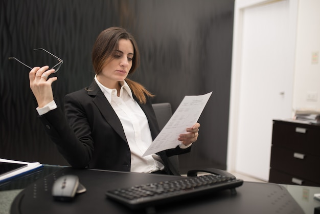 Woman at work in her office
