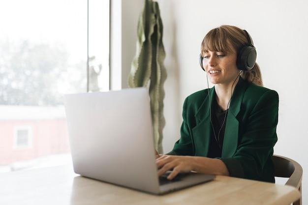 Woman working from home during coronavirus quarantine