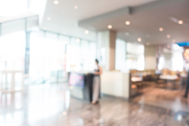 Woman working in the lobby