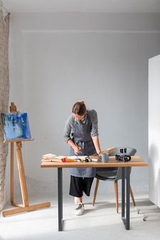 Woman working in studio