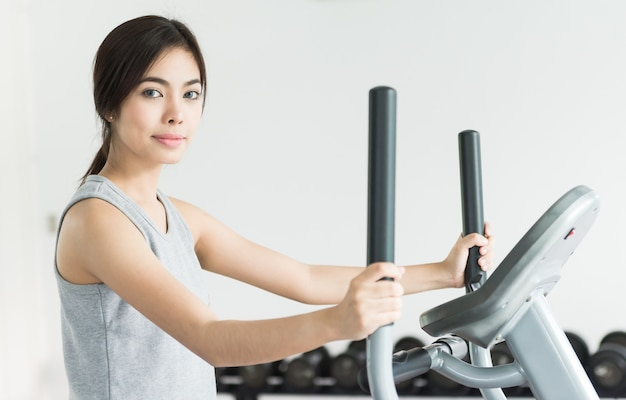 Woman workout at fitness