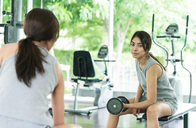 Woman workout fitness