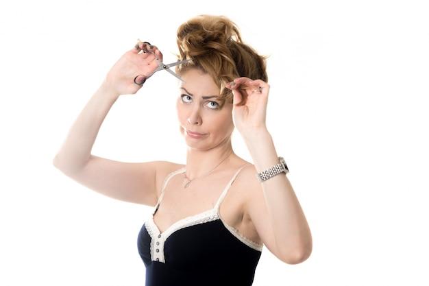 彼女の前髪をwomancutting