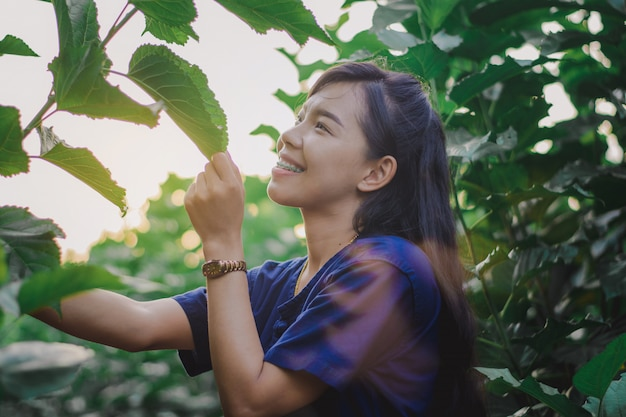 Women are enjoying the beauty of nature.