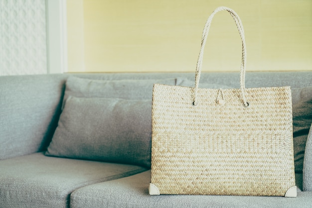 Women bags on sofa