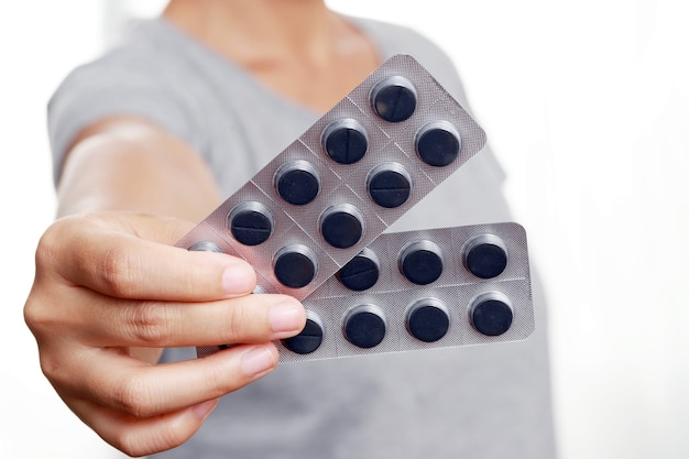 여성들은 증상이 있을 때 설사를 예방하기 위해 약을 구입합니다.