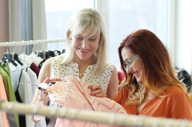 Women in clothing shop