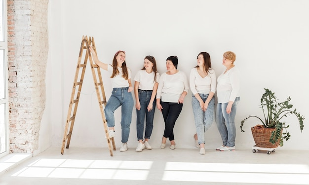 Women community lifestyle and stairs