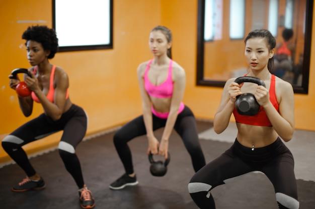 Women on a fitness class