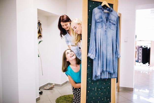 Women in fitting room