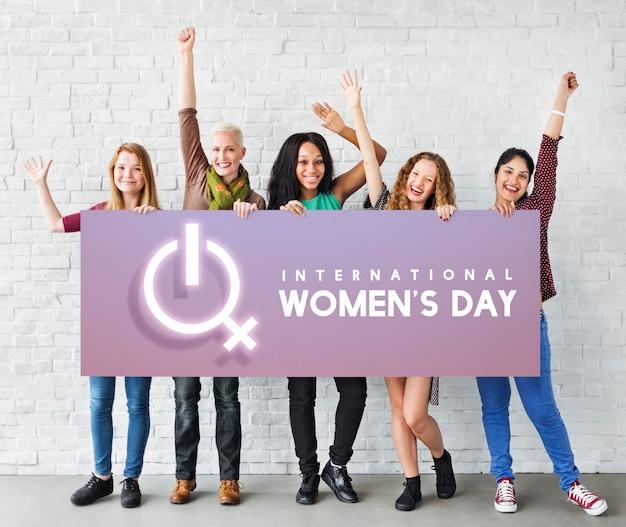 여성 국제 날 축하 개념