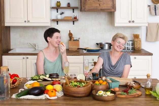 Women preparing some healthy food