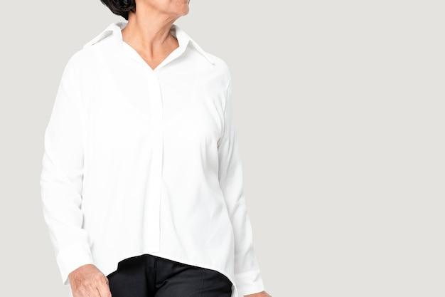 Camicia donna bianca oversize fashion con spazio design
