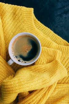 Women's autumn outfit and espresso