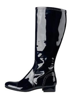 白の、孤立した女性のブーツ