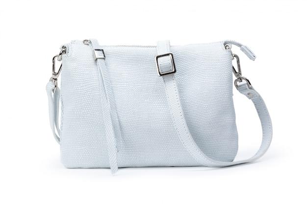Women's fashion crossbody bag isolated on white