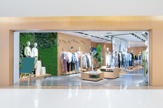 Women's fashion store in the shopping center