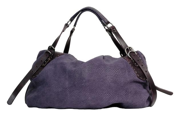 Женская сумочка, изолированная на белой поверхности