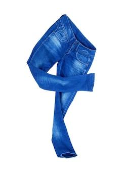 Женские джинсы на белом фоне