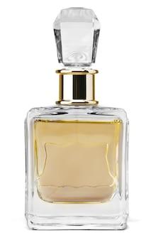白で隔離のボトルの女性の香水