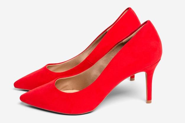 女性の赤いハイヒールの靴のフォーマルなファッション