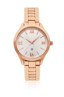 分離された女性のスリーハンドクォーツムーブメント腕時計